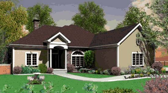 Traditional House Plan 68262 Elevation