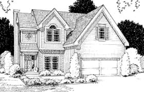 Traditional House Plan 68263 with 4 Beds, 3 Baths, 2 Car Garage Elevation