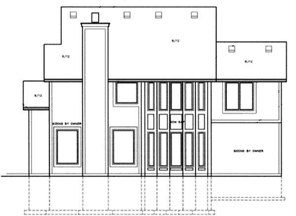 Traditional House Plan 68264 Rear Elevation
