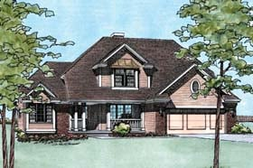 Traditional House Plan 68272 Elevation