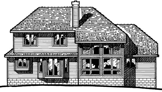 Traditional House Plan 68272 Rear Elevation