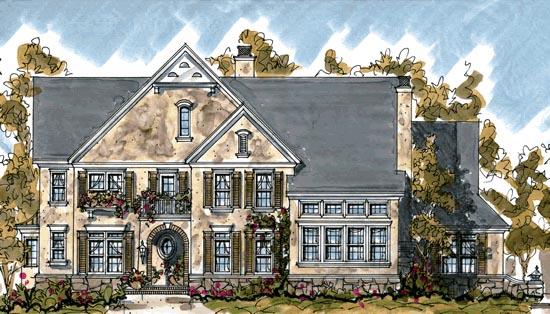 Country European House Plan 68275 Elevation