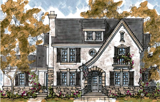 Country European Tudor House Plan 68279 Elevation