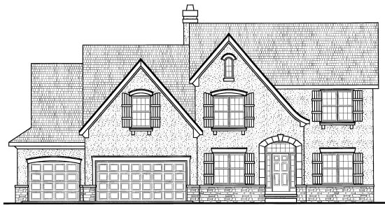 Country European House Plan 68283 Elevation