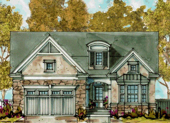 Country European House Plan 68288 Elevation