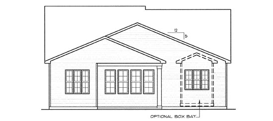 Country European House Plan 68288 Rear Elevation