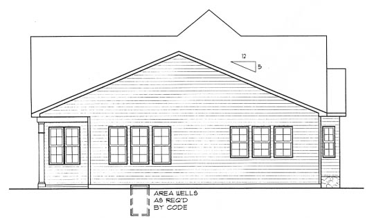 Traditional House Plan 68289 Rear Elevation