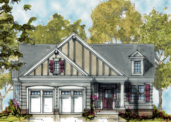Craftsman House Plan 68291 Elevation