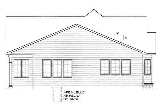 Craftsman House Plan 68291 Rear Elevation