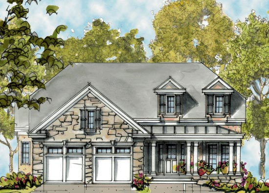 Country European House Plan 68295 Elevation