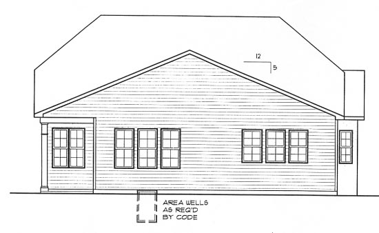 Country European House Plan 68295 Rear Elevation