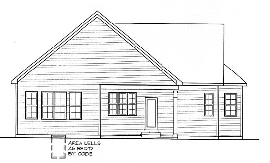 Country European House Plan 68296 Rear Elevation