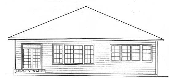Farmhouse House Plan 68302 Rear Elevation