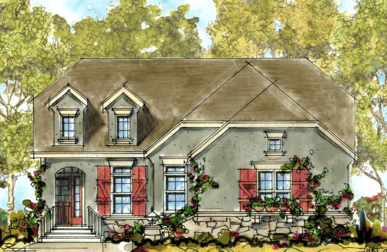 Country European House Plan 68309 Elevation