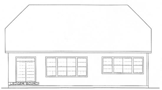 Country European House Plan 68309 Rear Elevation