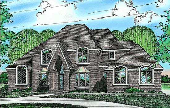 European House Plan 68311 Elevation