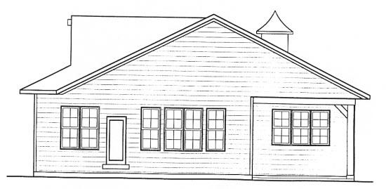Farmhouse Rear Elevation of Plan 68313