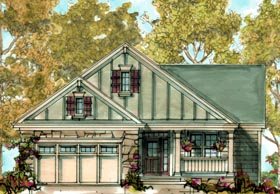 Craftsman House Plan 68315 with 2 Beds, 2 Baths, 2 Car Garage Elevation