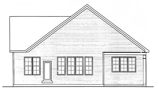 Craftsman House Plan 68315 with 2 Beds, 2 Baths, 2 Car Garage Rear Elevation