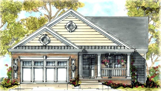 Traditional House Plan 68316 Elevation