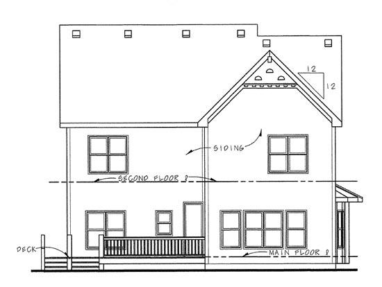 House Plan 68317 Rear Elevation