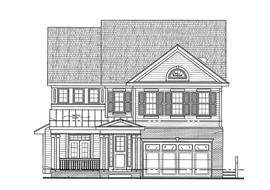 Traditional House Plan 68318 Elevation