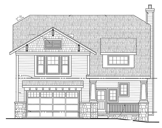 House Plan 68322 | Craftsman Style Plan with 3599 Sq Ft, 4 Bedrooms, 4 Bathrooms, 2 Car Garage Elevation