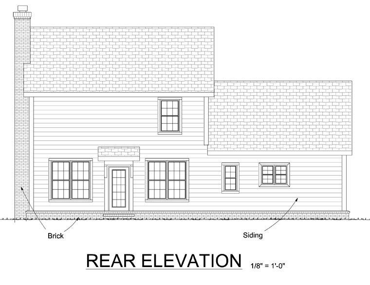 Traditional House Plan 68336 Rear Elevation