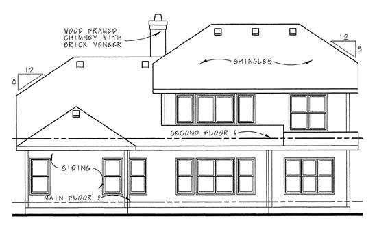 Craftsman House Plan 68339 Rear Elevation