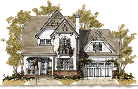 Country House Plan 68342 with 4 Beds, 4 Baths, 2 Car Garage Picture 1