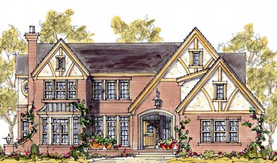 Tudor House Plan 68343 Elevation