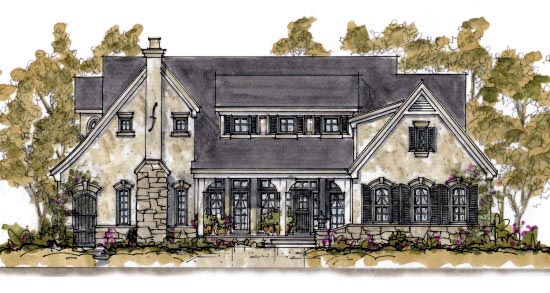 Traditional House Plan 68344 Elevation