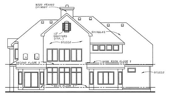 Country House Plan 68345 Rear Elevation