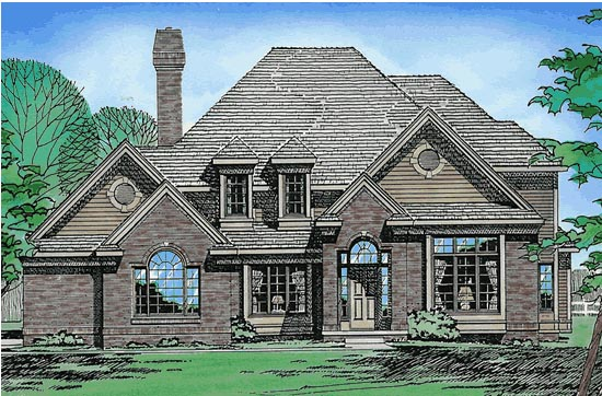 European House Plan 68354 Elevation