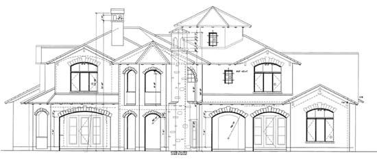 Mediterranean House Plan 68360 Rear Elevation