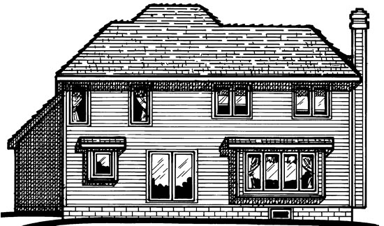 Traditional House Plan 68381 Rear Elevation