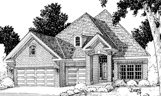 European House Plan 68422 Elevation