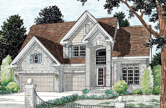 European House Plan 68424 Elevation