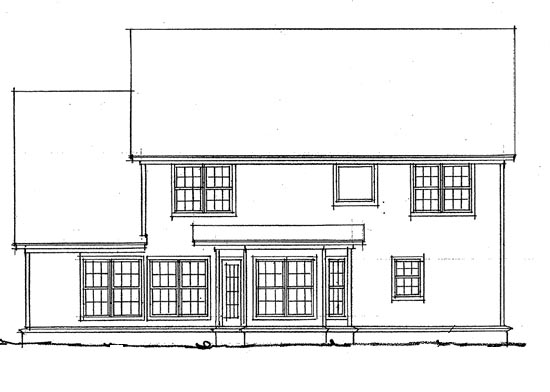 European House Plan 68424 Rear Elevation