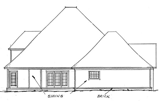 European House Plan 68429 Rear Elevation
