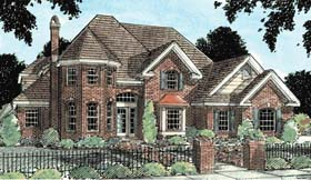 European , Victorian House Plan 68433 with 4 Beds, 4 Baths, 3 Car Garage Elevation