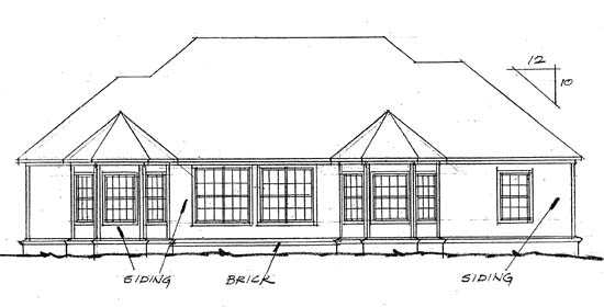 European Traditional House Plan 68434 Rear Elevation