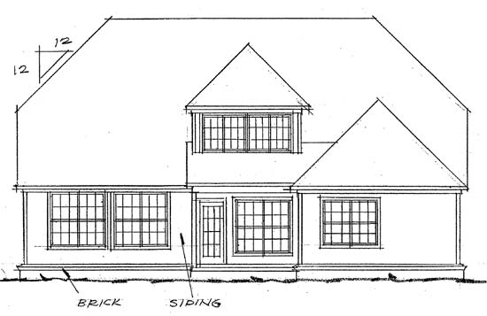 Traditional House Plan 68435 Rear Elevation
