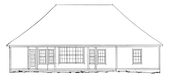 European Traditional House Plan 68437 Rear Elevation