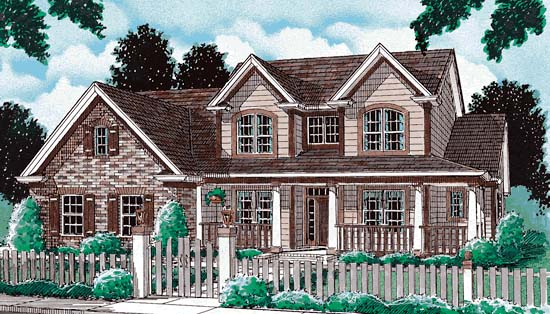 Country House Plan 68438 Elevation