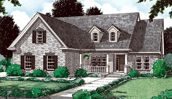 Traditional House Plan 68440 Elevation