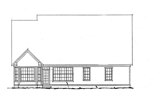 Traditional House Plan 68440 Rear Elevation