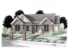 Traditional House Plan 68443 Elevation
