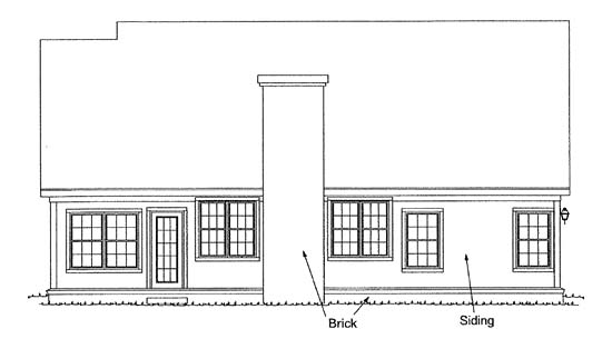 Traditional House Plan 68443 Rear Elevation