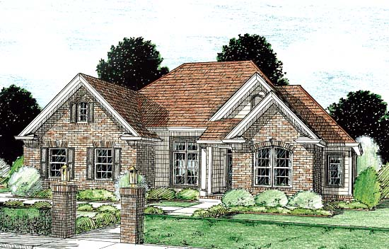 Traditional House Plan 68445 Elevation